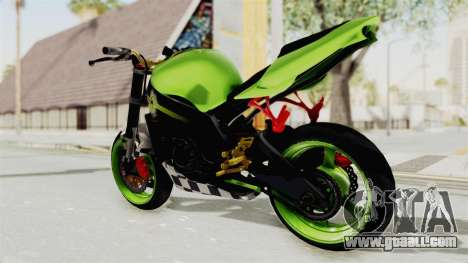 Kawasaki Ninja ZX-9R Stunter for GTA San Andreas left view