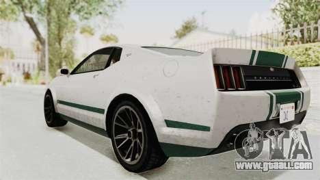 GTA 5 Vapid Dominator v2 SA Style for GTA San Andreas left view