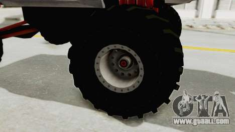 Ford Mustang 2005 Monster Truck for GTA San Andreas back view