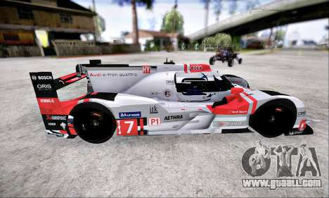 Audi R18 E-Tron Quattro 2015 for GTA San Andreas left view