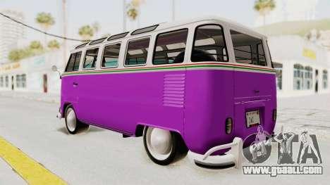 Volkswagen T1 Station Wagon De Luxe Type2 1963 for GTA San Andreas left view