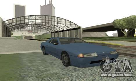 Standard Elegy with a retractable spoiler for GTA San Andreas left view