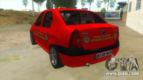 Dacia Logan Scoala for GTA San Andreas back left view