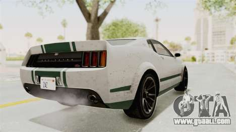 GTA 5 Vapid Dominator v2 SA Style for GTA San Andreas back left view