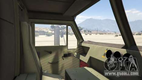 GTA 5 Heavy Expanded Mobility Tactical Truck rear right side view
