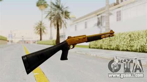 XM1014 Gold for GTA San Andreas second screenshot