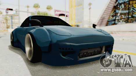 Mazda RX-7 FD3S Rocket Bunny v2 for GTA San Andreas right view