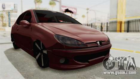 Peugeot 206 Full for GTA San Andreas right view