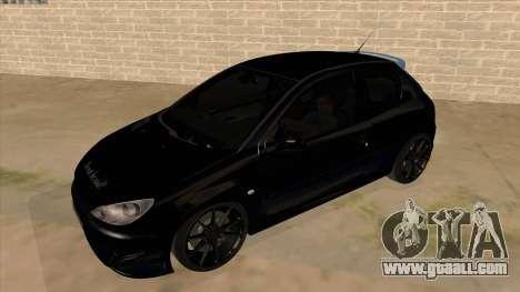 Peugeot 206 MO Edit for GTA San Andreas