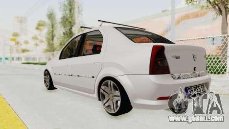 Dacia Logan 2013 for GTA San Andreas left view