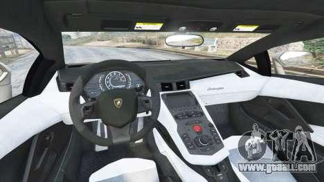 GTA 5 Lamborghini Aventador LP700-4 2012 v1.2 rear right side view