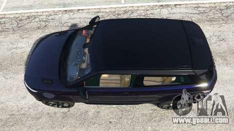 GTA 5 Range Rover Evoque v5.0 back view