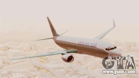 Boeing 737-800 Korean Air for GTA San Andreas back left view