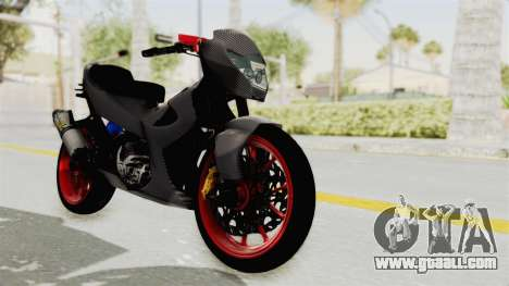 Satria FU 150 Modif FU 250 Superbike for GTA San Andreas right view