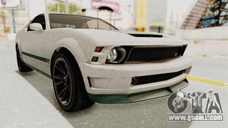 GTA 5 Vapid Dominator v2 SA Style for GTA San Andreas right view