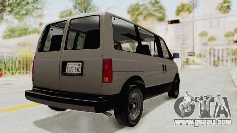Chevrolet Astro 1988 for GTA San Andreas back left view