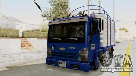 Chevrolet NPR Cabina y Media for GTA San Andreas right view