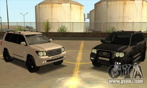 Toyota Land-Cruiser 200 for GTA San Andreas side view