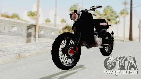 Honda Super Cub Modif Moge for GTA San Andreas right view