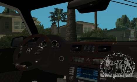 Mercedes G55 Kompressor for GTA San Andreas interior