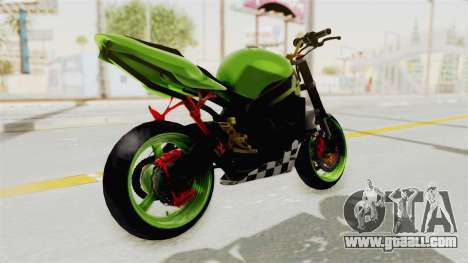 Kawasaki Ninja ZX-9R Stunter for GTA San Andreas back left view