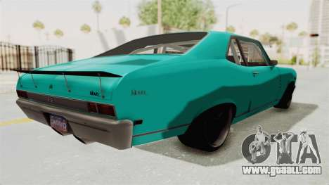 Chevy Nova 454 for GTA San Andreas back left view