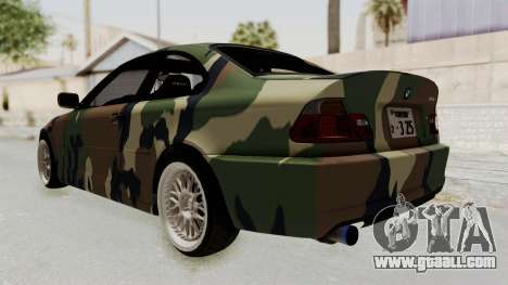 BMW 3 Series E46 for GTA San Andreas right view