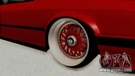 BMW M3 E30 Camber Low for GTA San Andreas back view
