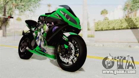 Kawasaki Ninja 250FI Kochiya Sanae Itasha for GTA San Andreas right view