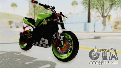 Kawasaki Ninja ZX-9R Stunter for GTA San Andreas right view