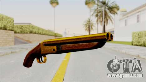 Sawnoff Gold for GTA San Andreas