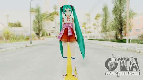 Project Diva F2nd - Hatsune Miku (Shrine Maiden) for GTA San Andreas second screenshot