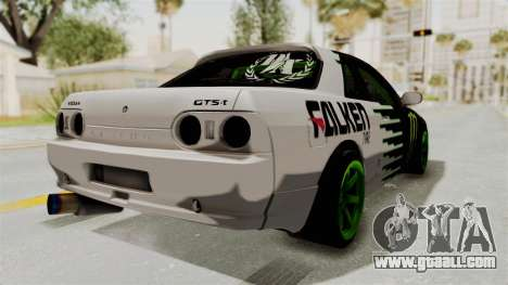Nissan Skyline R32 Drift Monster Energy Falken for GTA San Andreas back left view