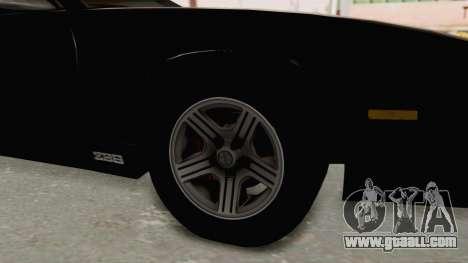 Chevrolet Camaro Z28 Iroc-Z Targa 1991 for GTA San Andreas back view