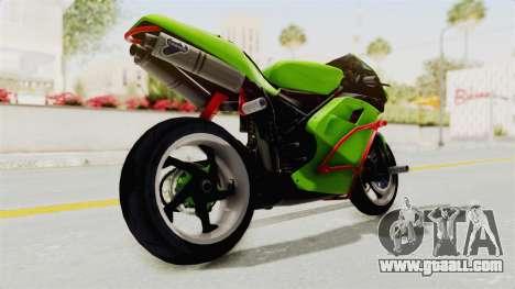 Ducati 998R Modif Stunt for GTA San Andreas back left view