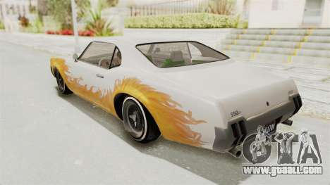 GTA 5 Declasse Sabre GT2 B for GTA San Andreas upper view