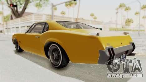 GTA 5 Declasse Sabre GT2 B IVF for GTA San Andreas left view