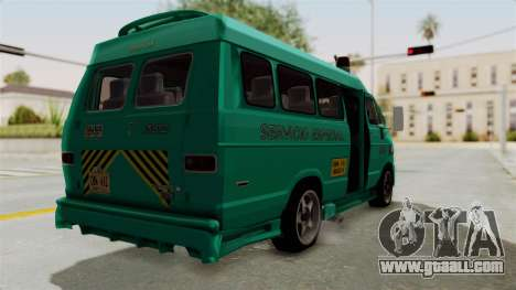 Dodge Ram Van Microbus 1977 for GTA San Andreas left view