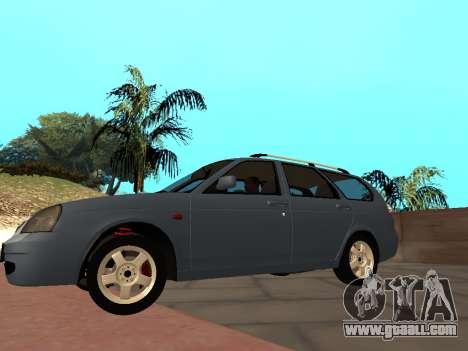 Lada Priora IVF for GTA San Andreas back left view