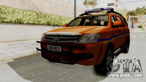 Toyota Fortuner JPJ Orange for GTA San Andreas back left view