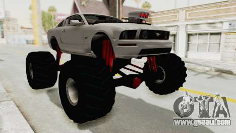 Ford Mustang 2005 Monster Truck for GTA San Andreas right view