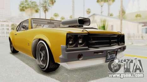 GTA 5 Declasse Sabre GT2 B IVF for GTA San Andreas