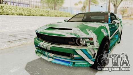 GTA 5 Vapid Dominator v2 SA Style for GTA San Andreas wheels