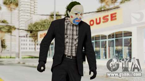 Joker Heist Outfit GTA 5 Style for GTA San Andreas