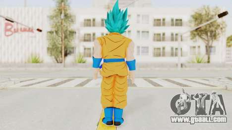 Dragon Ball Xenoverse Goku SSGSS V2.0 for GTA San Andreas third screenshot