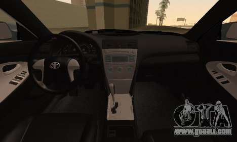 Toyota Camry 2007 for GTA San Andreas right view