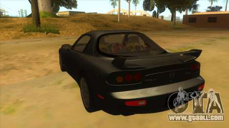Mazda RX7 S Spirit R for GTA San Andreas back left view
