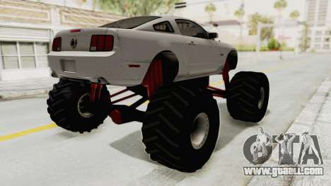 Ford Mustang 2005 Monster Truck for GTA San Andreas back left view