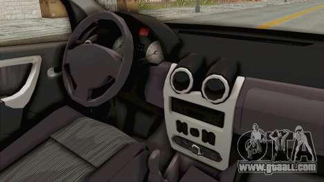 Dacia Logan 2013 for GTA San Andreas inner view