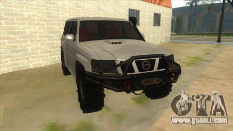 Nissan Patrol Y61 for GTA San Andreas back view